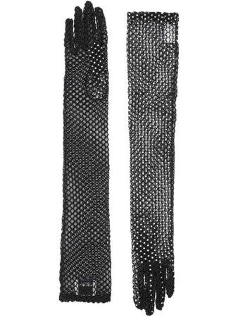 Burberry Embellished Fishnet Gloves 8025477 Black   Farfetch