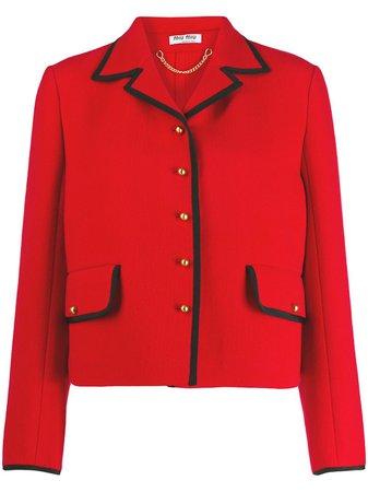 Miu Miu Classic Tailored Blazer - Farfetch