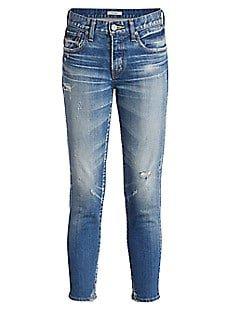 Moussy Vintage Velma Distressed Skinny Jeans | SaksFifthAvenue