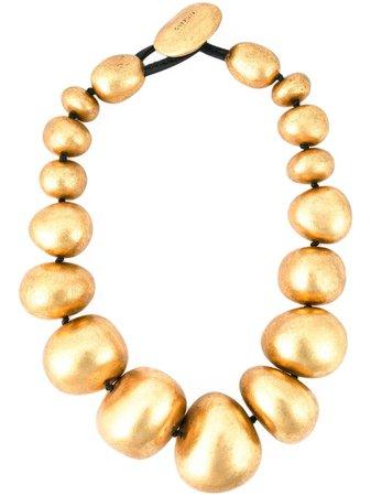 Monies metallic ball necklace 2011PG yellow | Farfetch