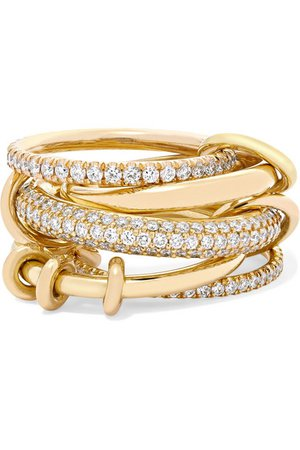 Spinelli Kilcollin | Venus set of five 18-karat yellow gold diamond rings | NET-A-PORTER.COM