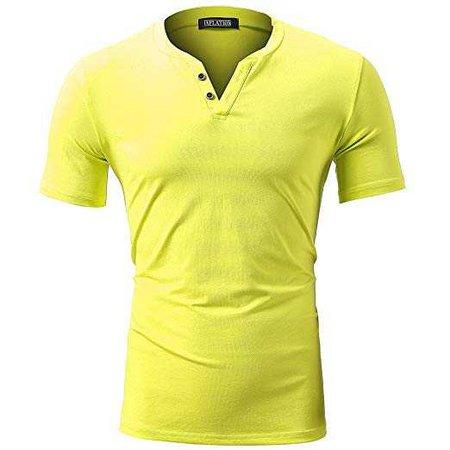 FLY HAWK Mens T-Shirt - Yellow