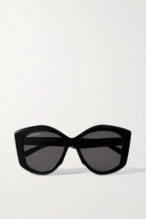 Black Oversized cat-eye acetate sunglasses | Balenciaga | NET-A-PORTER