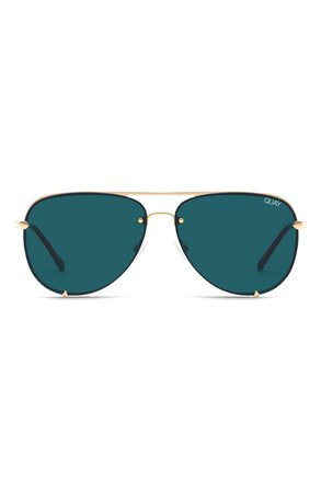 Quay Australia High Key Mini 59mm Rimless Aviator Sunglasses | Nordstrom