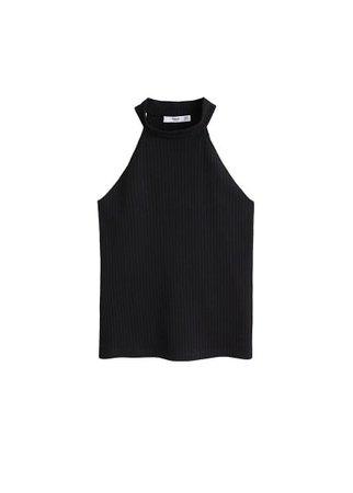 MANGO Halter neck top