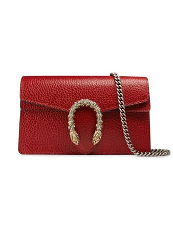 Red Gucci Dionysus Leather Super Mini Bag | Farfetch.com