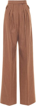 Max Mara Lisotte Wool-Cashmere High-Rise Straight-Leg Trousers