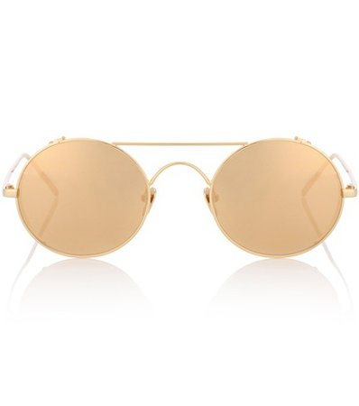 427 C1 oval sunglasses in yellow gold