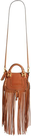 Mini Marcie Fringe Leather Crossbody Bag
