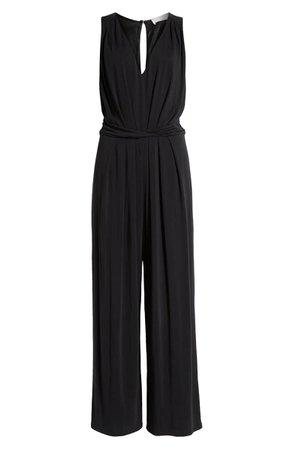 ASTR the Label Easy Twist Waist Jumpsuit Black