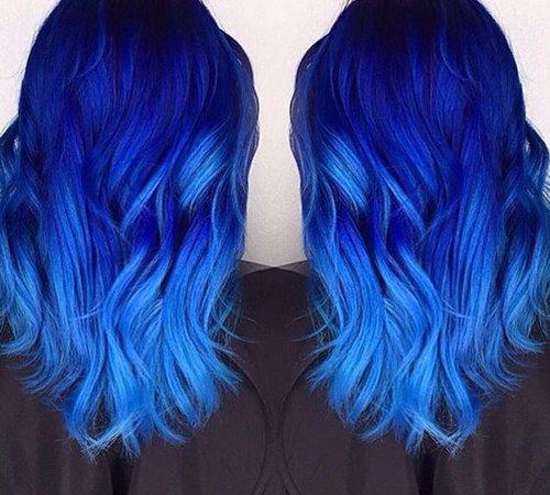 Electric Light Blue Hair
