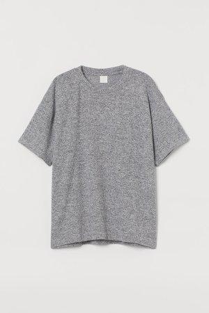 Straight-cut T-shirt - Gray