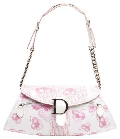 Dior Girly Pink Canvas Shoulder Bag - Tradesy