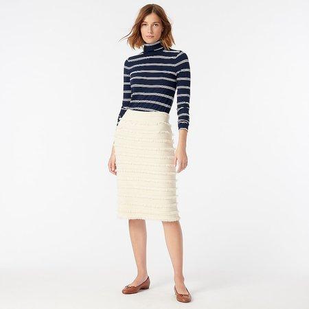 J.Crew: Pencil Skirt In Fringe Stripe For Women