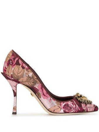 Dolce & Gabbana DG Amore Floral Pumps - Farfetch