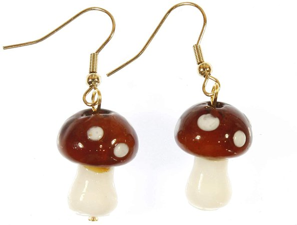mushroom earrings - Google Search