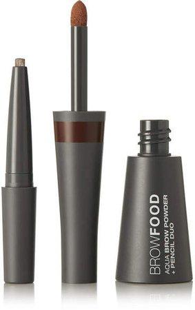 Browfood Aqua Brow Powder Pencil Duo - Brunette