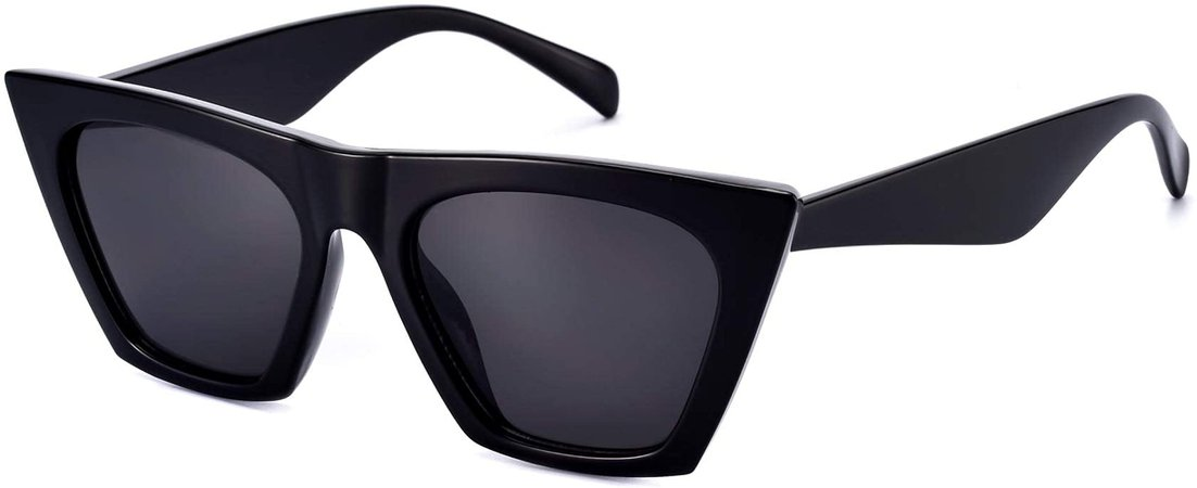 Amazon.com: Sunglasses for Women Trendy Square Cateye Cat Eye Black Retro Rectangle Cool Vintage Fashion 90s Cute Funky Aesthetic 2000s ladies 70s Small Dark Chunky Unique Baddie Frame 2021 Stylish Clout Mosanana: Clothing