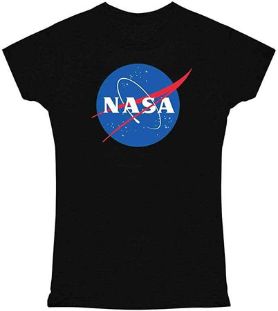 Amazon.com: Pop Threads NASA Approved Meatball Logo Graphic Space Vintage Black S Graphic Tee T Shirt for Women: Clothing