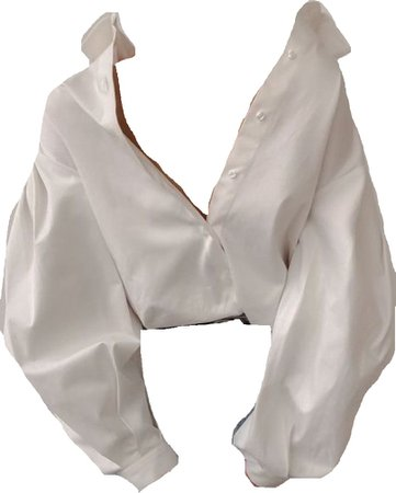 white oversized button up shirt