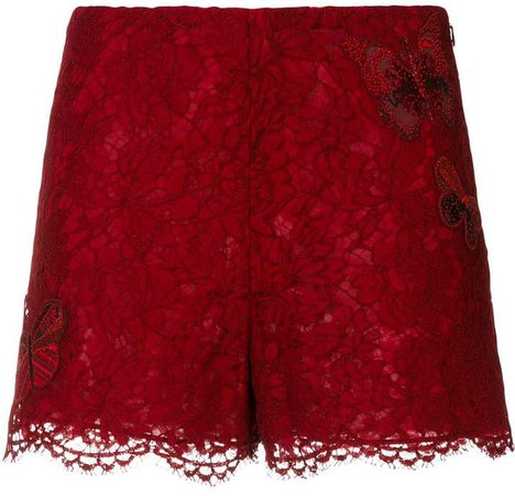 butterfly lace shorts