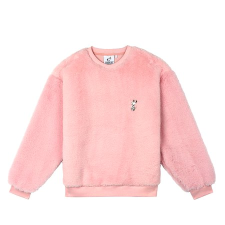 [FW18 Peanuts] Snoopy Fake Fur Sweatshirts(Pink) - STEREO-SHOP