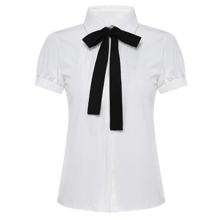 Preppy Style Causal School Girls Bow Tie Shirt White Blouses Peter Pan Collar Women Summer Tops Ladies Korean Fashion Clothing-in Blouses & Shirts from Women's Clothing on AliExpress - 11.11_Double 11_Singles' Day