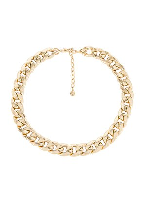 BaubleBar Michaela Curb Chain Necklace in Gold | REVOLVE