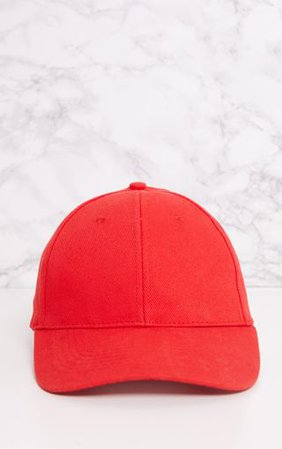 Red Baseball Cap | Red Baseball Cap | PrettyLittleThing