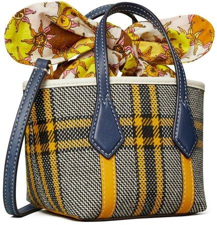 Perry Plaid Micro Tote Bag