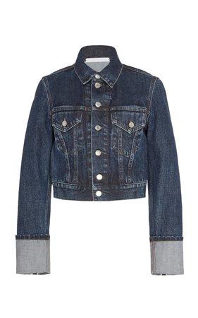 Cropped Dark Wash Denim Jacket by Helmut Lang   Moda Operandi