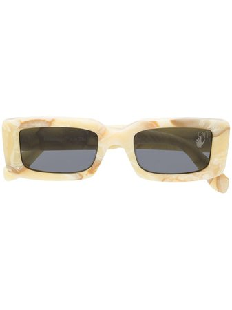 Shop Off-White Arthur rectangle-frame sunglasses with Express Delivery - Farfetch