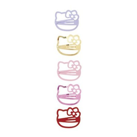 Hello Kitty Hair Clips: Pink Face - The Kitty Shop