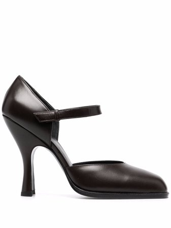 The Row Mary Jane leather pumps - FARFETCH