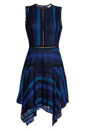 Adelyn Rae Kirstyn Stripe Lace Cocktail Dress | Nordstrom