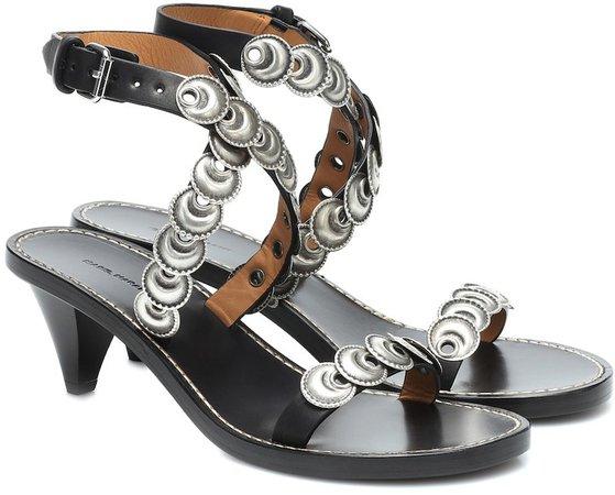 Jieva embellished leather sandals