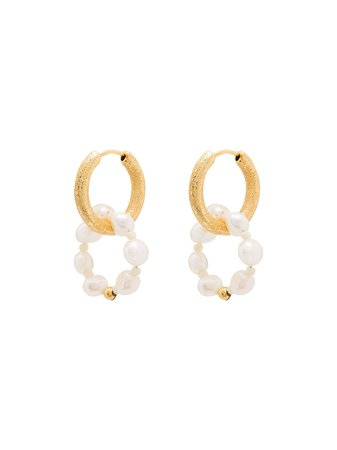 Anni Lu Ring of pearls hoop earrings
