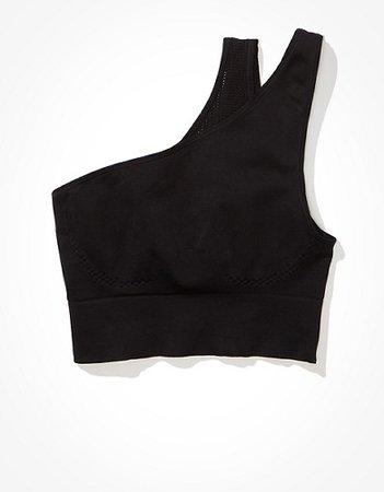 TACKMA Tech One Shoulder Crop Top black