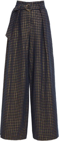 Rhodes Cotton-Blend Straight-Leg Trousers