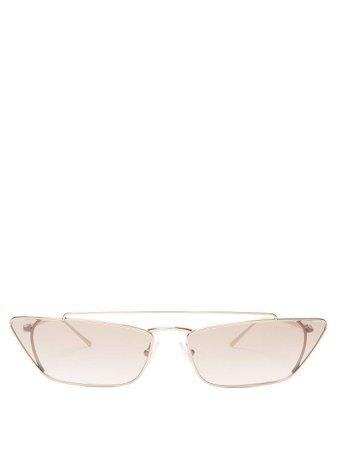Lunettes de soleil œil-de-chat en métal Ultravox   Prada Eyewear   MATCHESFASHION.COM FR