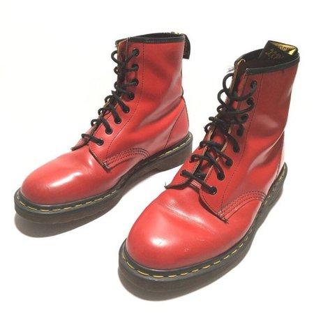Vtg. Dr. Martens RARE Cherry Red Boot | Etsy