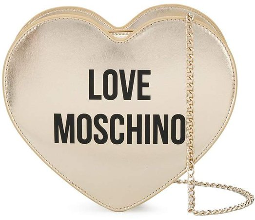 heart-shaped logo shoulder bag