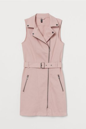 Twill Biker Dress - Light pink - Ladies | H&M US
