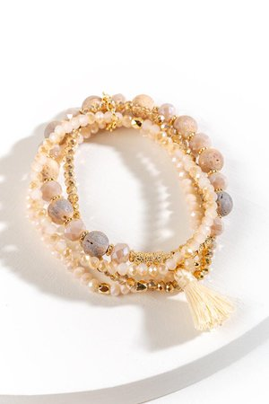 Karlie Beaded Stretch Bracelet Set | francesca's