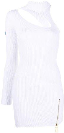 Asymmetrical Cut-Out Mini Dress