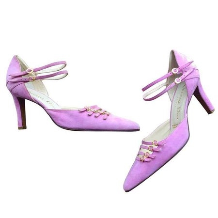 Rare Vintage Christian Dior by John Galliano Brand New Pink Cage Heel Shoes Sz 8 For Sale at 1stdibs