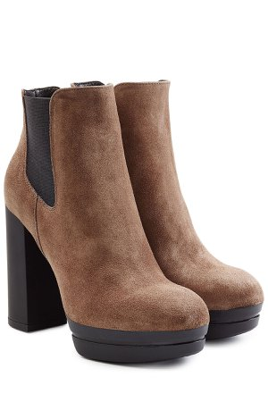 Suede Platform Ankle Boots Gr. IT 36