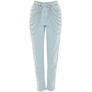topshop crystal denim jeans