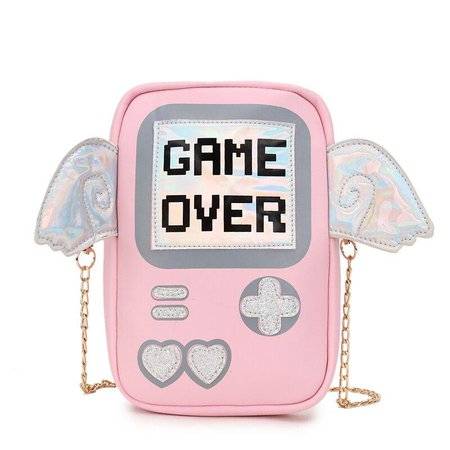 Game Over Pink Bag from Unicorn Streetwear Girls Clothing Store