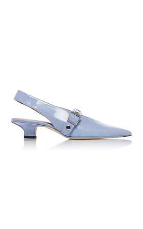 Punky Studded Buckled Patent-Leather Pumps by Victoria Beckham | Moda Operandi